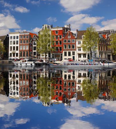 Amsterdam Stadt mit Hauptkanal in Holland