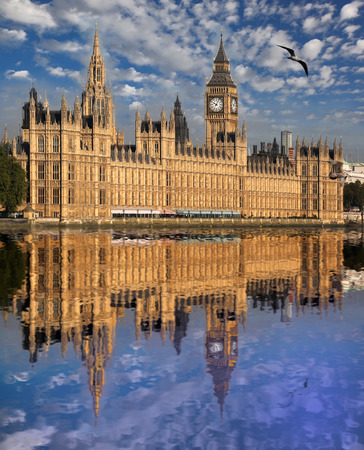 Big Ben in London, England photo