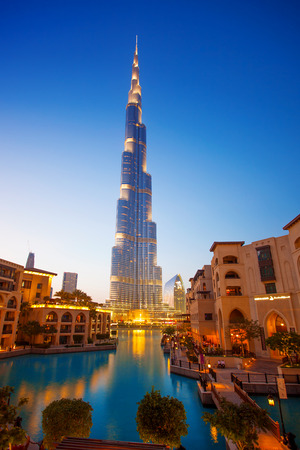 Dubai with Burj khalifa, the highest building in the world measuring 828 m  United Arab Emirates