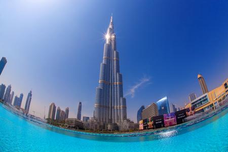 Dubai with Burj khalifa, the highest building in the world measuring 828 m  United Arab Emirates