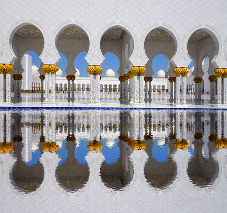hdr: Sheikh Zayed mosque in Abu Dhabi, United Arab Emirates, Middle East