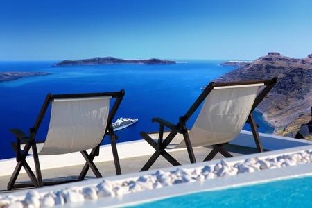 Santorini island in Greece, Europe photo