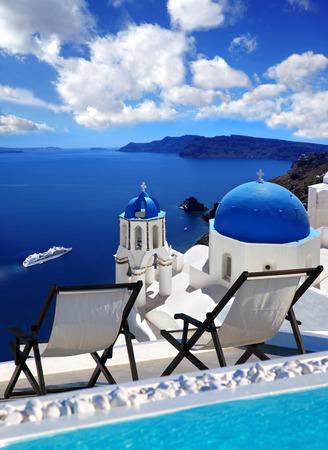 santorini: Oia village in Santorini island, Greece