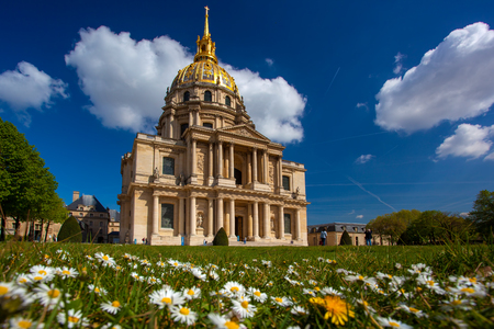 Paris, Les Invalides in spring time, famous landmark, France