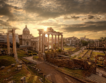 Famous Roman ruins in Rome, Capital city of Italy Фото со стока - 29575820