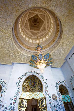 doom: Sheikh Zayed mosque in Abu Dhabi, United Arab Emirates, Middle East