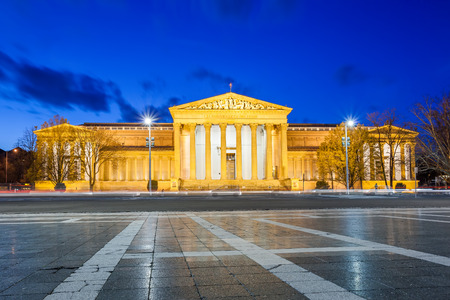 fine arts: Budapest, Museum of Fine Arts in the evening, Hungary