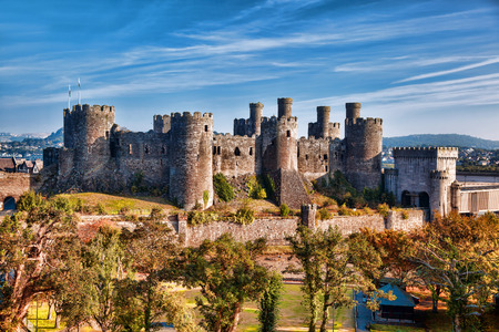 south west england: Famous Conwy Castle in Wales, United Kingdom, series of Walesh castles Editorial