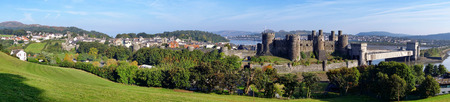 king edward: Famous Conwy castle in Wales, United Kigdom, series of Walesh castles