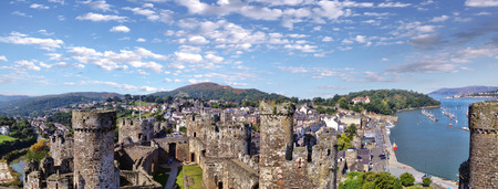king edward: Famous Conwy Castle in Wales, United Kingdom, series of Walesh castles Editorial