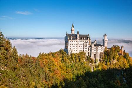 castle buildings: Famous Neuschwanstein castle in Bavaria,  Germany Editorial
