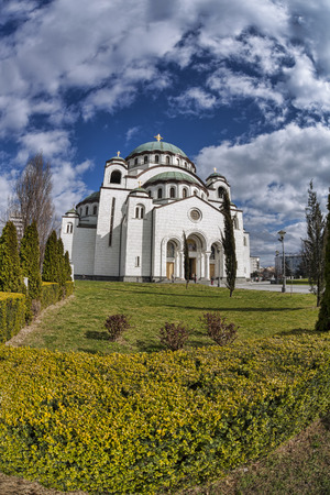 St. Sava Cathedral in Belgrade, capital city of Serbia photo