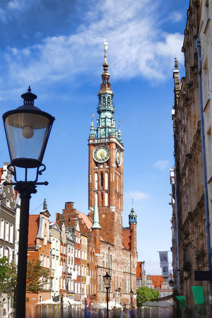 townhall: Gdansk city with townhall in Poland Stock Photo