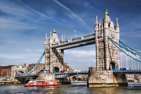 Famous Tower Bridge in London, England, United Kingdom photo