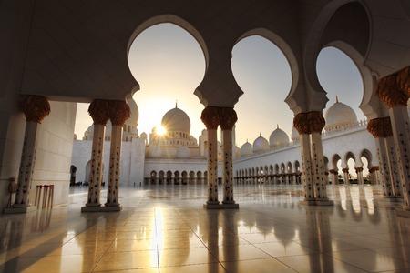 Sheikh Zayed moskee in Abu Dhabi, Verenigde Arabische Emiraten, het Midden-Oosten