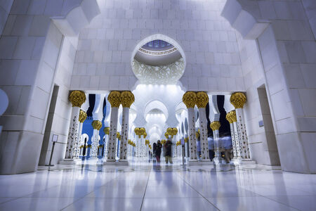Sheikh Zayed mosque in Abu Dhabi, United Arab Emirates, Middle East