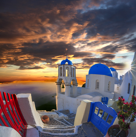 house series: Oia village in Santorini island, Greece