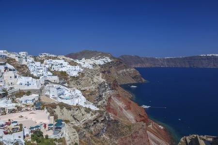oia: Oia village in Santorini island, Greece