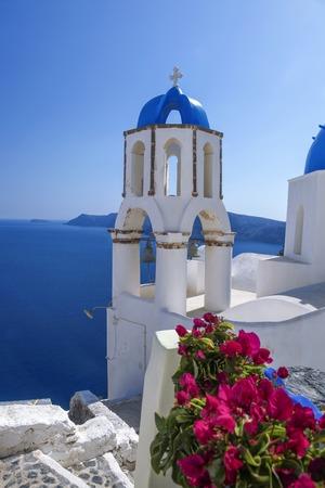 ギリシャ、サントリーニ島のオイア村