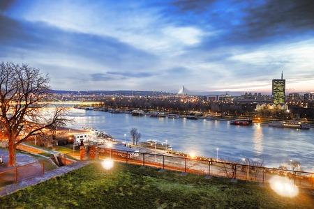 Belgrade capital city of Serbia Standard-Bild