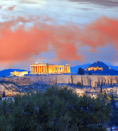 Acropolis with Parthenon temple in Athens, Greece Reklamní fotografie
