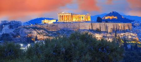 Acropolis with Parthenon temple in Athens, Greece Archivio Fotografico