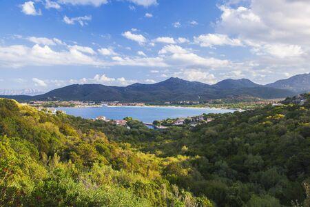 rotondo: Sardinia coast with famous part of Costa Smeralda with amazing beaches in Italy Stock Photo