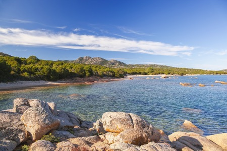 costa: Sardinia coast with famous part of Costa Smeralda with amazing beaches in Italy Stock Photo