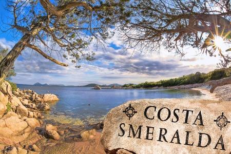 Sardinia coast with famous part of Costa Smeralda with amazing beaches in Italy photo