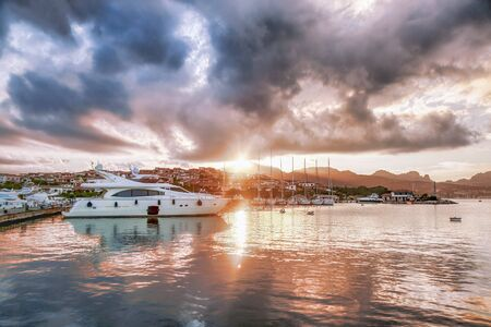 Porto Rotondo harbor in Sardinia, Costa Smeralda, Italy photo