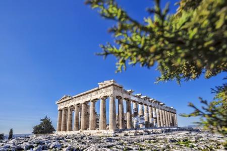 Famous Acropolis with Parthenon temple in Athens, Greece photo