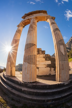 delphi: Famous Delphi with ruins of the Temple in Greece