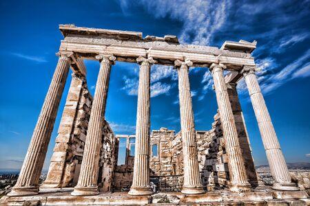templo griego: Famoso templo del Partenón en la Acrópolis de Atenas Grecia