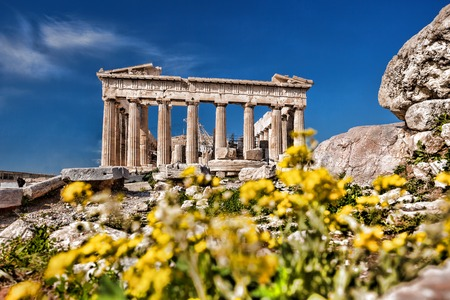 classical greece: Famous Parthenon temple on the Acropolis in Athens Greece