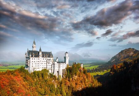 Famous Neuschwanstein castle in Bavaria Germany
