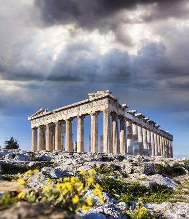 Berühmte Parthenon-Tempel auf der Akropolis in Athen Griechenland