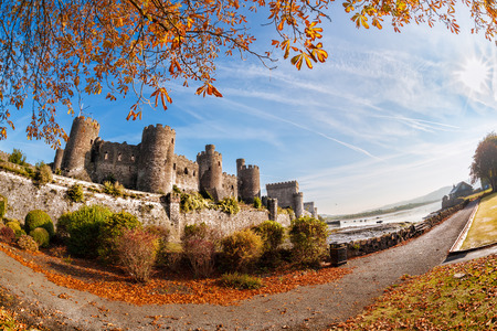 edward: Famous Conwy Castle in Wales, United Kingdom, Walesh series of castles