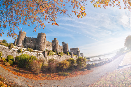 king edward: Famous Conwy Castle in Wales, United Kingdom, Walesh series of castles