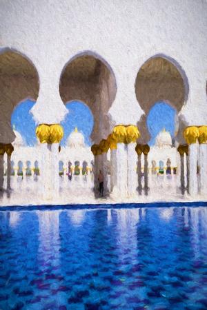 sheikh zayed mosque: Sheikh Zayed mosque in Abu Dhabi, United Arab Emirates, Middle East, Art style
