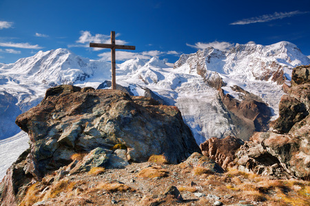 glaciers: Swiss Alps with glaciers, the Matterhorn area Stock Photo