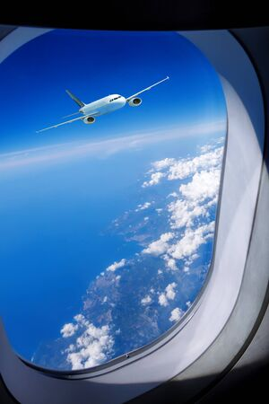 air travel: View of Airplane in the sky