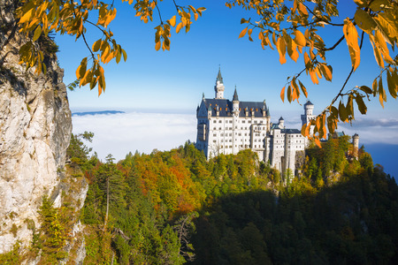 beautiful cinderella: Famous Neuschwanstein castle in Bavaria, Germany Editorial