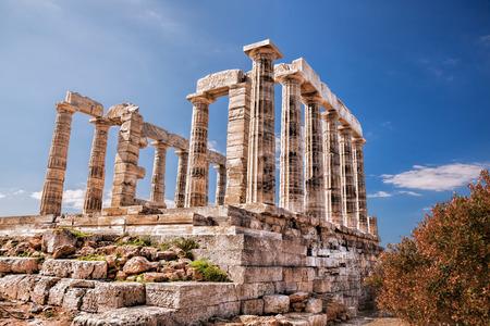 templo griego: famoso templo griego de Poseidón, Cabo Sunion en Grecia