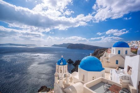 oia: Oia village on Santorini island in Greece