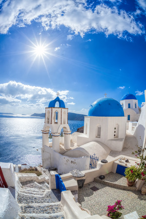 Oia village on Santorini island in Greece Reklamní fotografie - 52189287