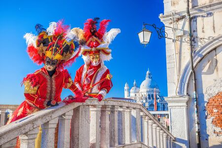 Karneval in Venedig mit Masken in Italien