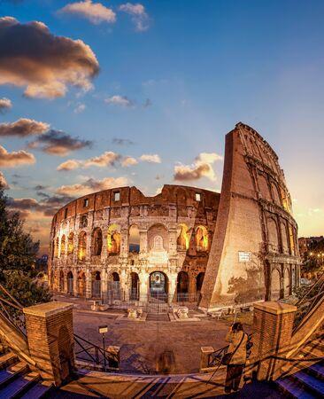 emporium: Colosseum in the evening, Rome, Italy