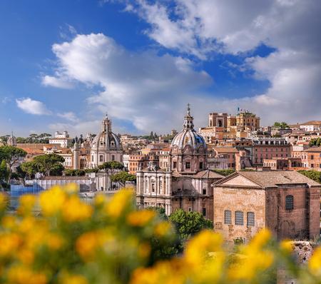 Veduta di Roma da Foro Romano in Italia