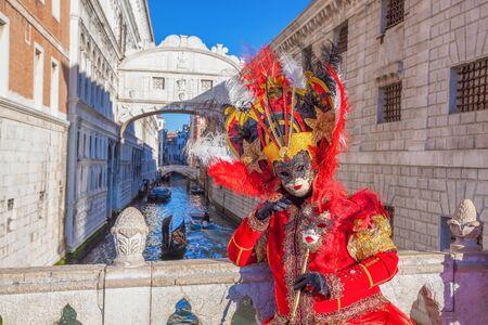 venice mask: Amazing carnival mask in Venice, Italy Stock Photo