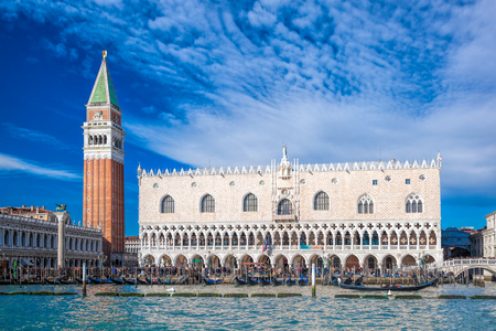 st mark's square: view of Venice with St. Marks Square in Italy